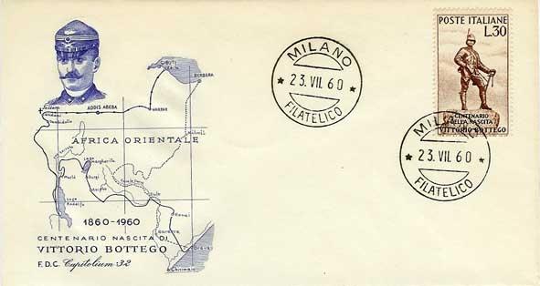 Vittorio Bottego: celebrazioni per il Centenario della nascita (1960), per il 75° annversario della morte (1972), per il Centenario della morte (1997)