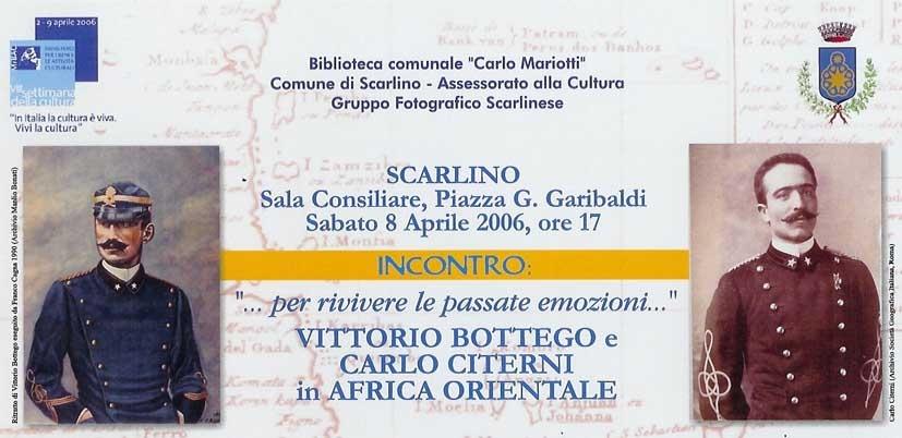 Vittorio Bottego e Carlo Citerni in Africa Orientale