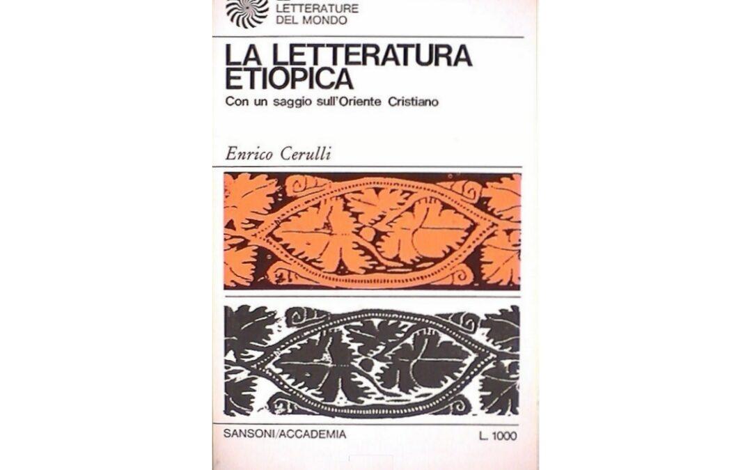 La letteratura etiopica -di Enrico Cerulli