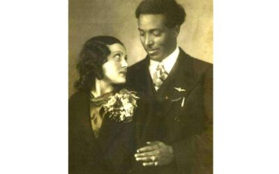L'eritreo Fessahatsiòn Beyenè, l'amica italiana Girolama Ricucci e il figlio Claudio negli anni 20