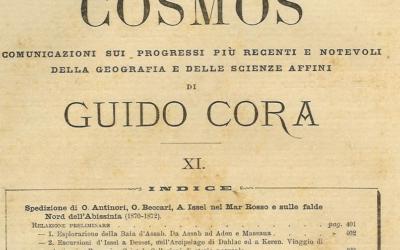 Spedizione di O. Antinori, O. Beccari, A. Issel nel Mar Rosso e sulle falde nord dell'Abissinia (1870-1872) (1) Relazione preliminare di Guido Cora 1876